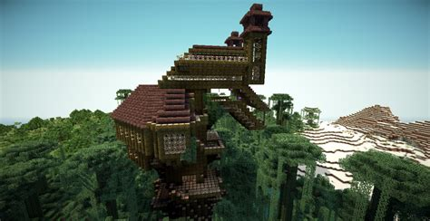 minecraft treehouse minecraft map