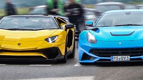Pictures Of Lamborghinis And Ferraris by Lamborghini Vs The Ultimate Sound Battle