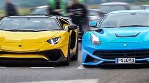 Ferrari Vs Lamborghini : lamborghini vs ferrari the ultimate sound battle youtube ~ Medecine-chirurgie-esthetiques.com Avis de Voitures