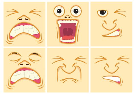 Pain Expression Faces Download Free Vector Art Stock