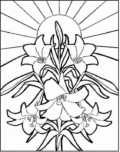 Easter Coloring Pages Religious Christian Printable Sheets