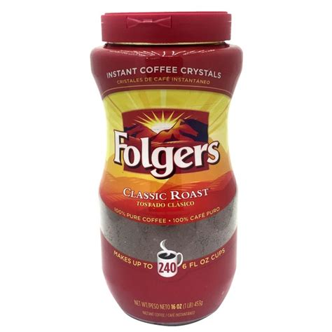 Plus it is good for hikers and adventure enthusiasts that need the caffeine kick before beginning or continuing their journey. Folgers Classic Roast Instant Coffee Crystals (16 oz) from Costco - Instacart