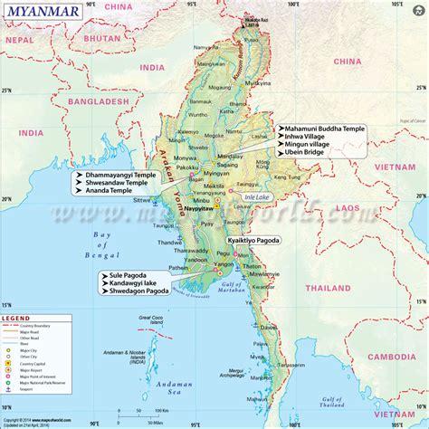 map  myanmar panoramic myanmar