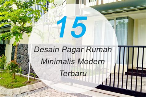 contoh gambar pagar rumah minimalis modern png content