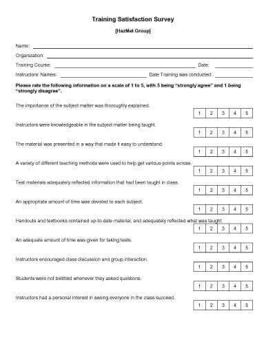 sample survey templates  microsoft word hloom