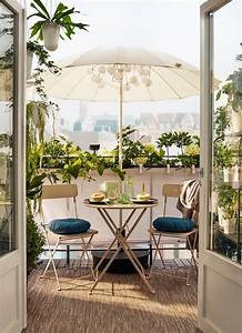 Ikea Table Balcon : m s de 100 fotos de decoraci n de terrazas y balcones peque os y modernos ~ Teatrodelosmanantiales.com Idées de Décoration