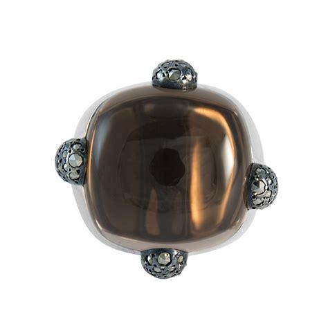 anelli pomellato argento anello pomellato 67 in argento con quarzo e marcasite