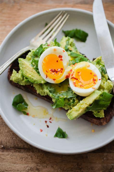 fancy avocado toast  beautiful plate