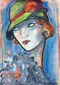 Peinture Visage Femme : les 10 meilleures images du tableau visage femme abstrait sur pinterest visages aquarelles et ~ Melissatoandfro.com Idées de Décoration