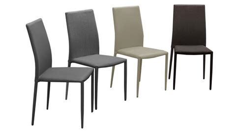 chaise designe lot de 6 chaises en tissu ou similicuir design ludvika