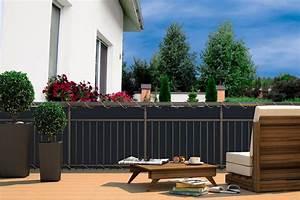 sichtschutz in anthrazit b h 600x90cm kaufen otto With französischer balkon mit holztreppe garten kaufen