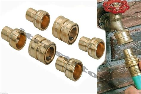 Quick Disconnect Set For Garden Water Hose Coupler Snap
