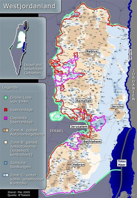 karte westjordanland nahost hintergrund inhalt