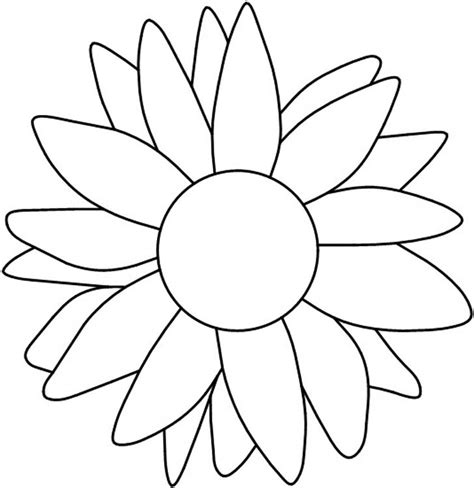 sunflower template sunflower clipart flower outline pencil and in color sunflower clipart flower outline