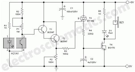Smoke Detector Alarm Circuit