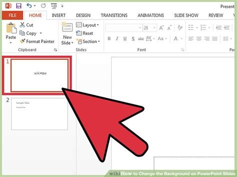 How To Change Background In Powerpoint How To Change The Background On Powerpoint Slides 15 Steps