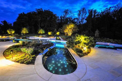 12person Perimeter Overflow Spa  Inground Pool Lights
