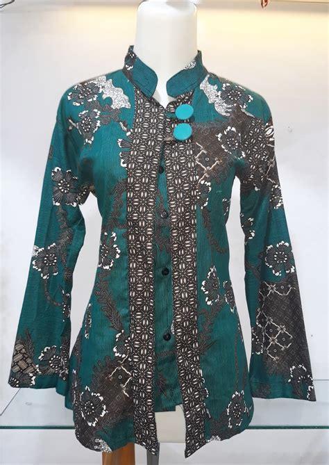 Blus Batik Atasan Wanita jual atasan batik wanita blouse batik blus batik