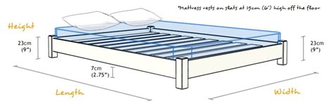 Width Of Bed - how to build a wooden bed frame 22 interesting ways
