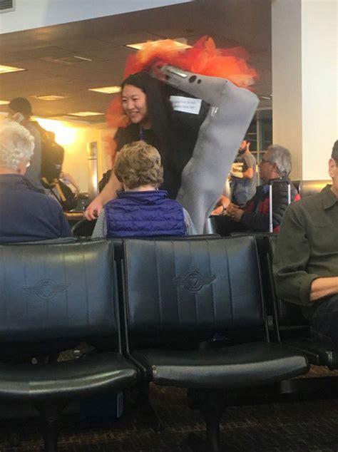 halloween  flight attendants exploding samsung