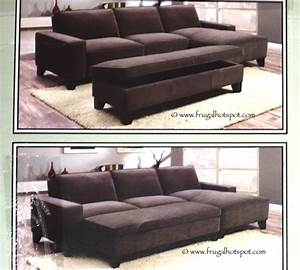 costco chaise sofa with storage ottoman 84999 frugal With costco sectional sofa with storage ottoman