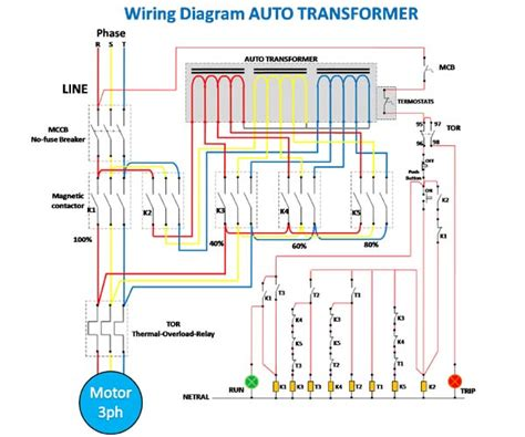Wiring Diagram Starting Motor With Auto Transformer