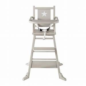 Chaise Haute Scandinave Bebe : chaise haute pour b b en bois taupe pastel maisons du monde ~ Teatrodelosmanantiales.com Idées de Décoration