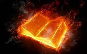 Fire Book wallpaper