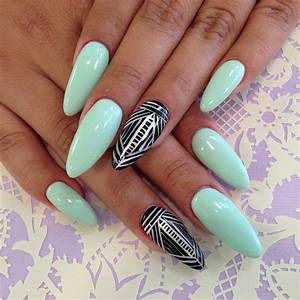 Fresh and fashionable mint nail designs for summer styles weekly