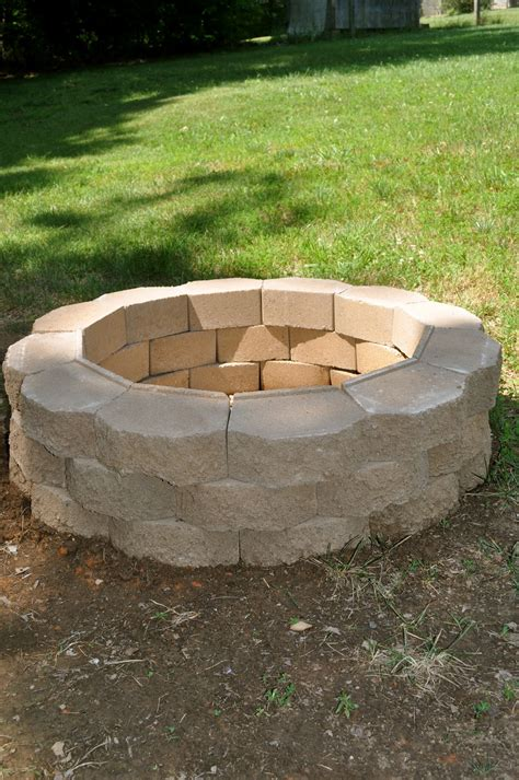 pit for garden diy brick fire pit make your own fire pit at home fireplace design ideas
