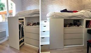 Lit Mezzanine Dressing : dressing gain de place 4 solutions d architectes pour ~ Premium-room.com Idées de Décoration