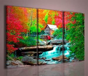 Quadri Moderni Quadri di Natura e Paesaggi House in Forest QUADRI MODERNI SU TELA