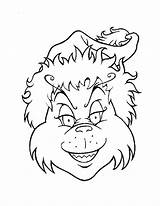 Coloring Grinch Pages Christmas Colouring Printable sketch template