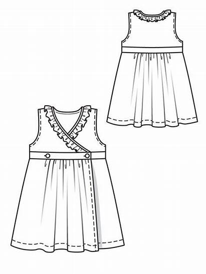 Dresses Drawing Sketches Wrap Clothes Patterns Casual