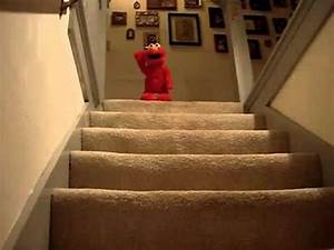 Elmo Falls Down Stairs - YouTube