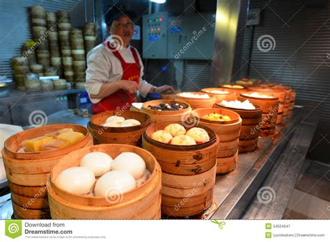 cuisine mar food market in shanghai china editorial