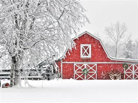 Beautiful Winter Barn Photos   Winter Snow Pictures