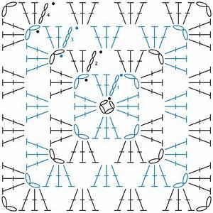 Granny Square Crochet Chart - Change Of Colour Each Row