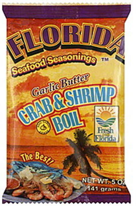 crab boil seasoning florida seafood seasonings crab shrimp boil garlic butter 5 0 oz nutrition information shopwell