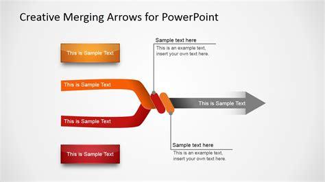 download template powerpoint 2017 satelit creative merging arrows for powerpoint slidemodel