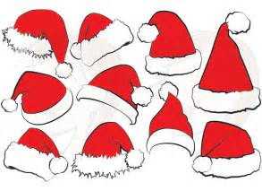 Christmas Santa Claus Hats Clip Art