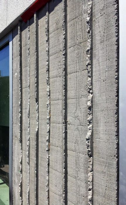 vertical board form concrete detail  dba board