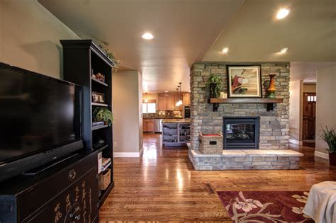 Kitchen Gas Fireplace - at the pinery in co kitchen and fireplace remodel