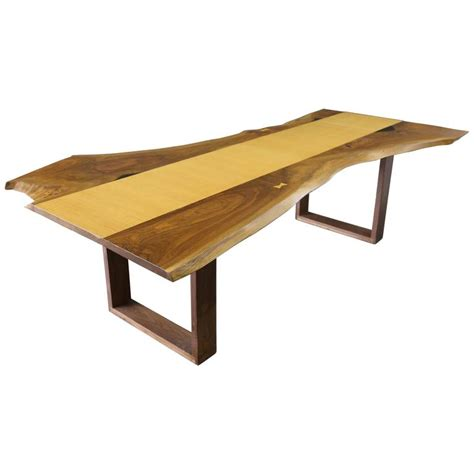 live edge oak table sentient live edge black walnut slab dining table with red