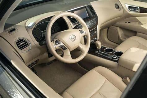 nissan pathfinder leather interior automotive car news