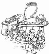 Carnival Coloring Pages Fair Rides Fun Drawing Sheets Scene Non Getdrawings Nice Coloringtop sketch template