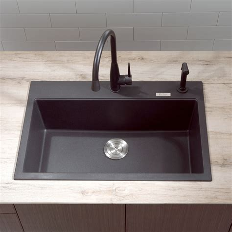 franke composite granite sink reviews size of black
