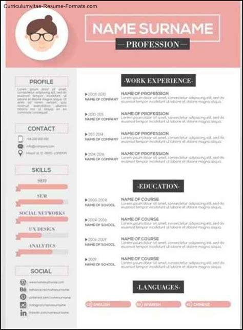 Artistic Resume Templates by Free Artistic Resume Templates Free Sles Exles