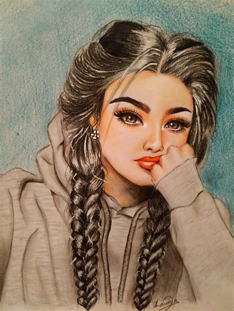 Pretty girl Drawing | Pretty girl drawing, Girl drawing ...