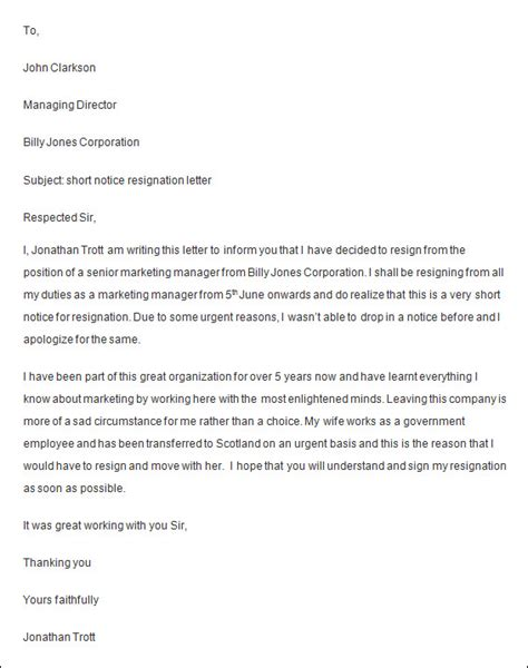 employee resignation letters  apple pages